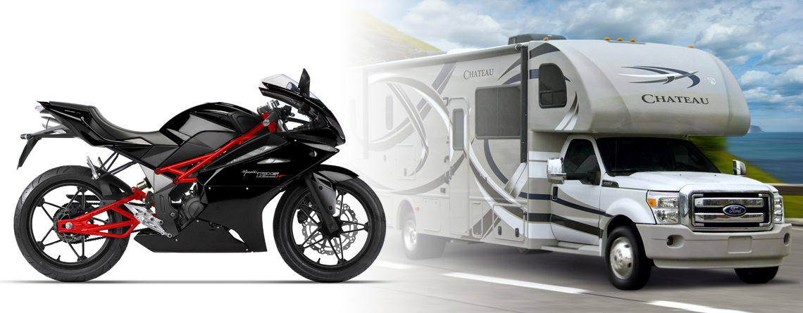 Now Offering Title Loans On Motorcycles & RV's